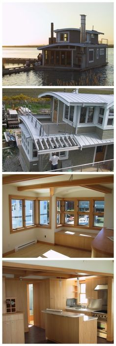 """Seattle WA Floathome, Float 20'-4""""x42'-6"""", House 908 SF, 2 bedrooms, 1.5 baths, Completed Aug. 2002"""