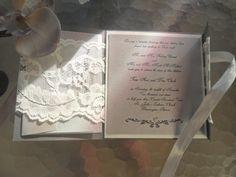 Lace Wedding invitation Suite The Sicilian in Silver by inkandlove, $5.75