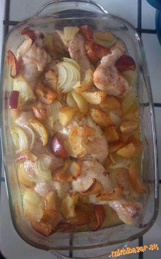 Kurča na cibuli a jablkách - jednoduché!!!