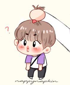 Fan Drawing, Mini Photo, Bts Drawings, Bts Chibi, Bts Fans, Bts Korea, Foto Bts, Bts Wallpaper, Cute Pictures