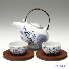 Meissen Tea Pot, Cup and Saucer for Japanese Tea