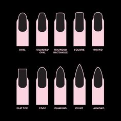 A trend that has been popular is acrylic nail shapes. These fall nail trends are perfect for the colder weather! These dark nail colors, matte nails and almond nails look so cute on anyone! Dark Nails, Matte Nails, Stiletto Nails, Acrylic Nails Almond Matte, Fall Almond Nails, Short Almond Nails, Pointed Nails, Love Nails, My Nails