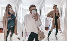 Amazon Fashion: Fall Finds Sweater Coats, Tunic Sweater, Cella Jane, Faux Leather Jackets, Pretty Clothes, Pretty Outfits, Chunky Layers, Fall Outfits, Autumn Fashion