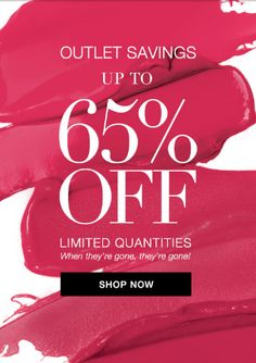 **Avon's Promotion of the Day** Savings Sunday! Get up to off by shopping at the Outlet, quantities are limited, when they're gone, they're gone! Email Design, Ad Design, Layout Inspiration, Graphic Design Inspiration, Fashion Shop Interior, Makeup Sale, Brand Campaign, Cosmetic Design, Newsletter Design