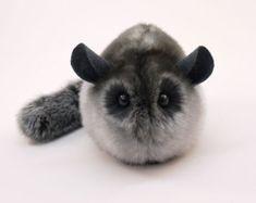 Stuffed Chinchilla Stuffed Animal Cute Plush Toy by Fuzziggles