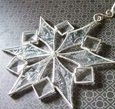 Stained Glass Snowflake with Bevels by ShadyGroveStudios on Etsy