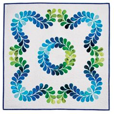 Feather Quilt Pattern by Kay Gentry #accuquilt #applique #quilt