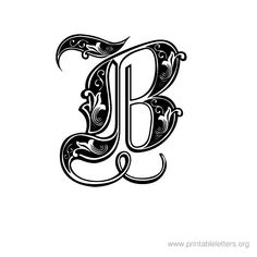 printable letter decorative b calligraphy fonts alphabet printable alphabet letters typography fonts calligraphy