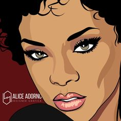 Ilustração: Rihanna #anime #illustration #art #aliceadorno #digitalart #nygga #riri #rihanna #rapper #usa #drake #brazil #popart #work #music #pop #artist