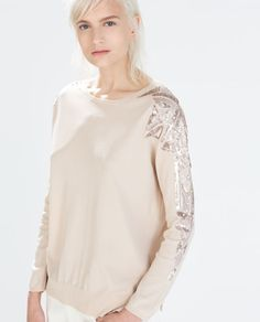 Image 2 of SEQUIN APPLIQUE SWEATER from Zara