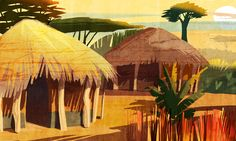 Villaggio Painting, Art, Art Background, Painting Art, Kunst, Paintings, Performing Arts, Painted Canvas, Drawings