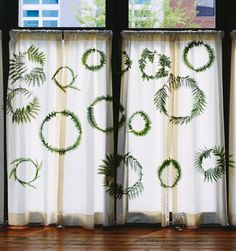 wreath wall backdrop