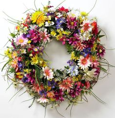 Mixed Floral Wreath with Kiwi Vine