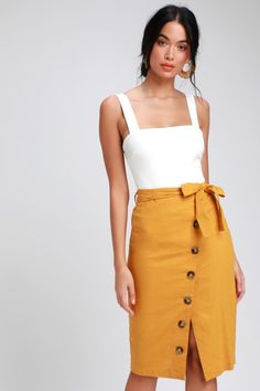 331d51deb 12 Best Yellow skirt outfits images in 2018   Court attire, Work ...
