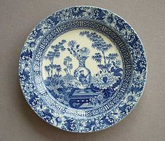 English porcelain plate | Antique English Pottery C19th Blue and White English Pottery
