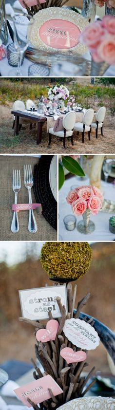 Steel Magnolias Bridal Shower Themed Tablescape