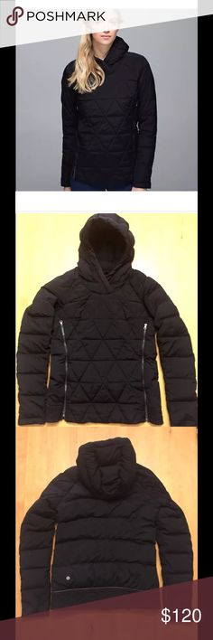 Lululemon Pullover Down Jacket Cute Lululemon 800 fill goose down pullover jacket in excellent condition.  Super light weight and warm. lululemon athletica Jackets & Coats