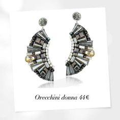 Metallo e cristalli per gli orecchini Luca Barra Gioielli! #lucabarra #gioielli #orecchini #donna #collezione #parure