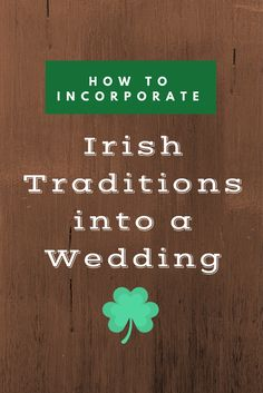 To celebrate St. Patrick's Day, we thought it would be fun to highlight some of the Irish wedding traditions that anyone can incorporate into their wedding ceremony to celebrate their Irish h…