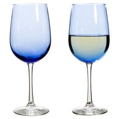 Designed for versatility, these blue-hued goblets with long stems will be sure to lend an air of sophistication to your table settings! Their 18.5-oz. capacity is the perfect size for wine... they&rsq