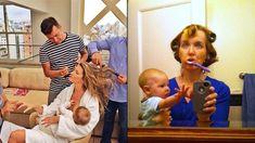 Real moms take Gisele to task for glam 'multitasking' photo