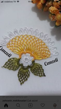 This pin was discovered by nur – Artofit Crochet Doilies, Crochet Flowers, Embroidery Stitches, Hand Embroidery, Crochet Cord, Point Lace, Quilted Table Runners, Needle Lace, Canvas Patterns