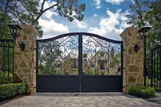 Top 60 Best Driveway Gate Ideas - Wooden And Metal Entrances