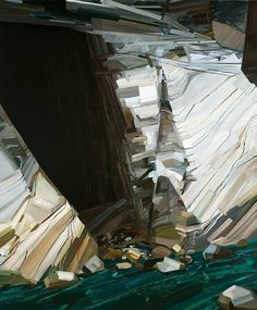 """CLAIRE SHERMAN Cave and Water, 2010, 8 1/2' x 7"""", Oil on canvas"""