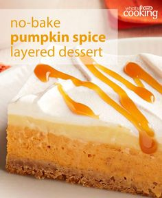 There's something about layered desserts. Guest love them and the best recipes factor in flavours and textures that combine in a most delicious way. Follow our easy no-bake instructions and you'll prepare this delectable dessert in just 20 min. Tap or click photo for this No-Bake Pumpkin Spice Layered Dessert #recipe.