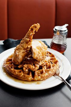 The ultimate hangover cure: Chicken & Waffles @24 Diner. #soamazing #sxsw