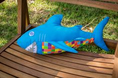 Shark Quilt Pattern | shark toy pattern and instruction sheet will help you to make a shark ...