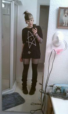Pastel goth. Everyday wear.