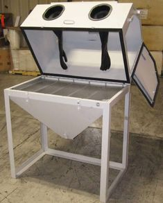 """Do you just love getting into DIY projects? Ever thought about etching glass or stone? Did you know a sandblast cabinet is not just for industrial applications? These amazing machines work hard no matter where you put them. Cyclone cabinets are high quality welded steel made in Michigan - USA. We have a like-new 38""""x24"""" sandblast cabinet available today for $750 + Shipping and it includes a dust collector (photo shown)! We are also promoting our large 40""""x40"""" cabinet for $1,748 + Shipping…"""