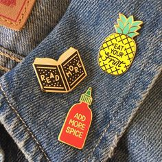 ENAMEL PINS Compendium of Radness. A blog by Diana Moss about fashion, art, design & other cool things.