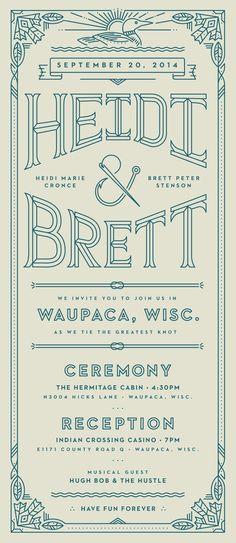 Heidi Brett - Wedding Invitations by Brett Stenson