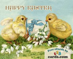 A bright and sweet Happy Easter wish for everyone you know from two adorable chicks! Choose your favourite  Easter eCard and send it for FREE! #happy #celebration #greeting #ecard #card #spring #gifts #care #nostalgic #chicks
