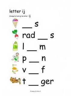 Grade R Worksheets, Dutch Language, School Posters, Kids Learning Activities, Grammar, Spelling, Homeschool, Math Equations, Education