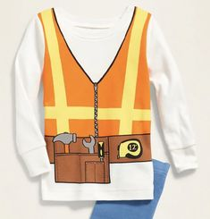 Construction Worker Costume Pajama Set for Toddler Boys & Baby