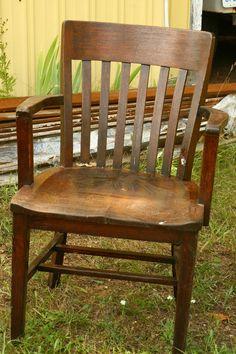 antique oak mission library chair oak chair by vintageatmosphere 45000 antique wooden office chair