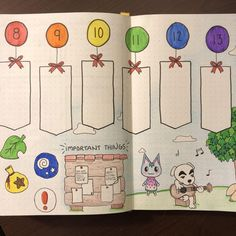 Animal Crossing weekly spread featuring two of my favorite NPCs : bulletjournal Best Picture For animal crossing interior For Your Taste You are looking for something, and it is going to tell you exac Bullet Journal Cover Ideas, Bullet Journal Banner, Journal Covers, Bullet Journal Inspiration, Diy, Hand Lettering, Creations, Doodles, Sketches