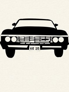 Available as T-Shirts & Hoodies, Stickers, and Kids Clothes Supernatural Impala, Supernatural Series, Supernatural Shirt, Supernatural Drawings, Supernatural Bloopers, Supernatural Wallpaper, Supernatural Birthday, Supernatural Imagines, Impala 67