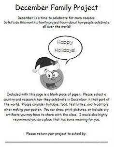 December Family Project Freebie