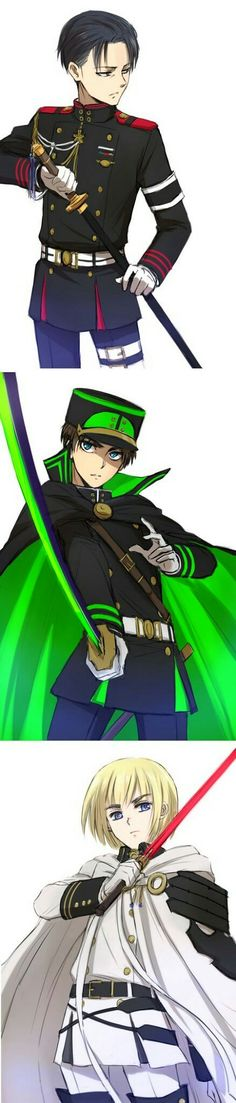 I love thet fusion of owari no seraph and attack on titan!