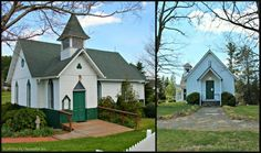 Churches of the Frescoes -- L: St. Marys Episcopal Church in West Jefferson, NC; R: Holy Trinity Church in Glendale Springs, NC