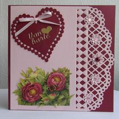 Hand Made Greeting Cards, Making Greeting Cards, Greeting Cards Handmade, Diy Christmas Cards, Valentine Day Cards, Card Creator, Spellbinders Cards, 1001 Pallets, Beautiful Handmade Cards