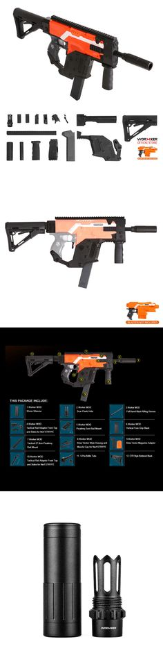 Dart Guns and Soft Darts 158749: Worker Mod Kriss Vector Imitation Kit  Combo 13 Items