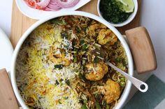 Vegetable Dum Biryani with saffron, butter and garam masala, courtesyof Maunika Gowardhan