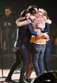 One Direction group hug X factor 2015