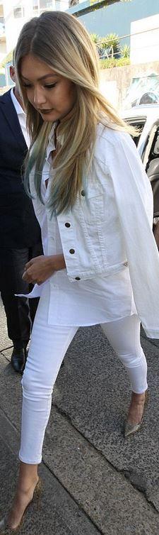 White Blue Jean Jacket
