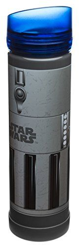 Zak! Designs Tritan Plastic Blue Light Saber Water Bottle with Screw-on Lid BPA-free and Break Resistant Inspired by Anakin Skywalkers Light Saber from Star Wars 21.5oz